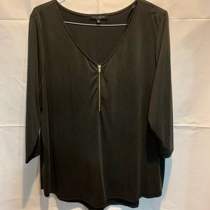 Green Envelope zipper blouse